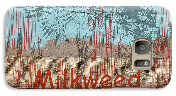 Galaxy Case featuring the photograph Milkweed Collage by Cynthia Powell