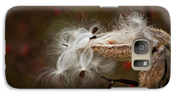 Galaxy Case featuring the photograph Milkweed Pods by Elsa Marie Santoro
