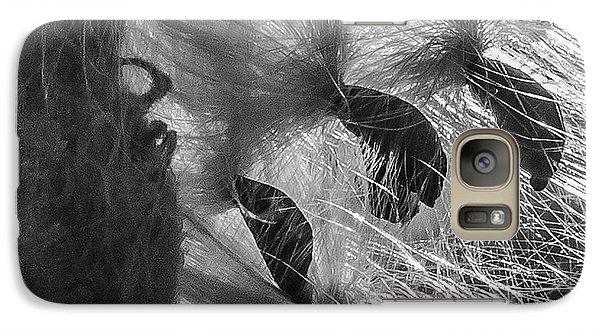 Milkweed Sunburst In Black And White Galaxy S7 Case