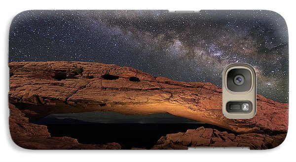 Galaxy Case featuring the photograph Milky Way Above Mesa Arch. by Johnny Adolphson