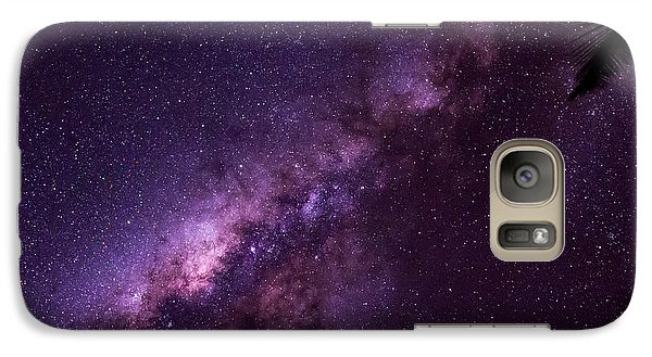 Galaxy Case featuring the photograph Milky Way Over Mission Beach by Avian Resources
