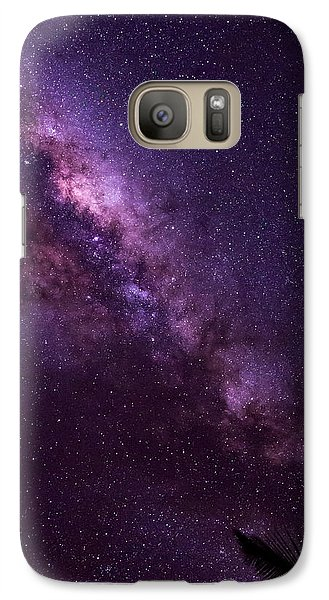Galaxy Case featuring the photograph Milky Way Over Mission Beach Vertical by Avian Resources