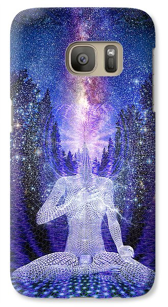 Galaxy Case featuring the painting Milkyway Awakening by Robby Donaghey
