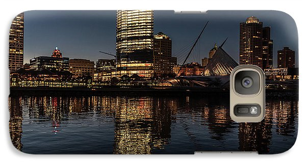Galaxy S7 Case featuring the photograph Milwaukee Reflections by Randy Scherkenbach