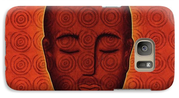 Galaxy Case featuring the mixed media Mind Circles by Gloria Rothrock