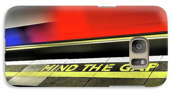 Mind The Gap Galaxy Case by Rona Black