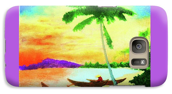 Galaxy Case featuring the painting Mindanao Sunset by Roberto Prusso