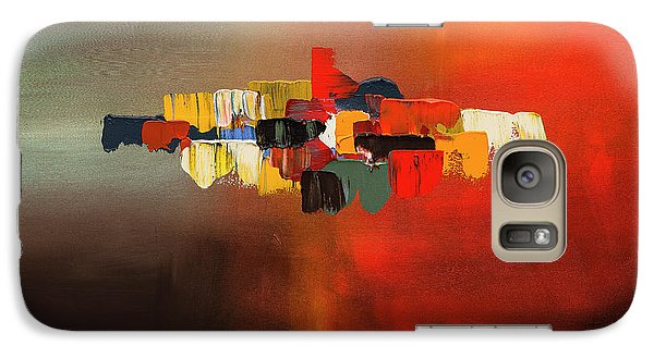 Galaxy Case featuring the painting Mindful - Abstract Art by Carmen Guedez