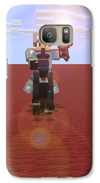 Galaxy Case featuring the digital art Minecraft Knight by Brindha Naveen