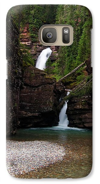 Galaxy Case featuring the photograph Mineral Creek Falls by Steve Stuller