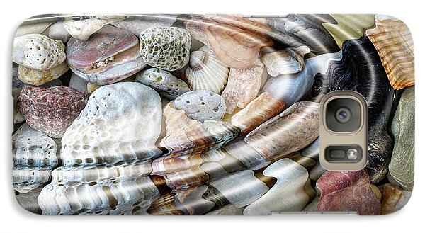 Galaxy Case featuring the digital art Minerals And Shells by Michal Boubin