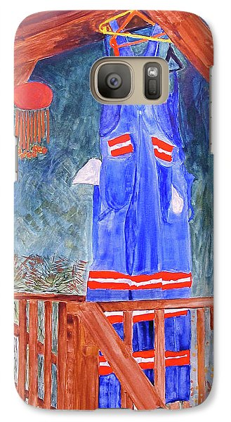 Galaxy Case featuring the painting Miner's Overalls by Sandy McIntire