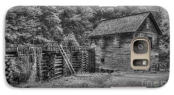Galaxy Case featuring the photograph Mingus Mill Black And White Mingus Creek Great Smoky Mountains Art by Reid Callaway