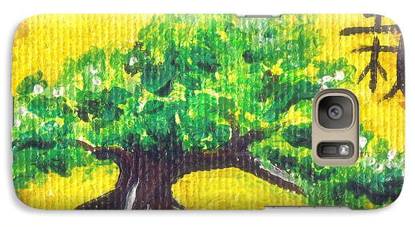Galaxy Case featuring the painting Mini Bonsai by Shawna Rowe
