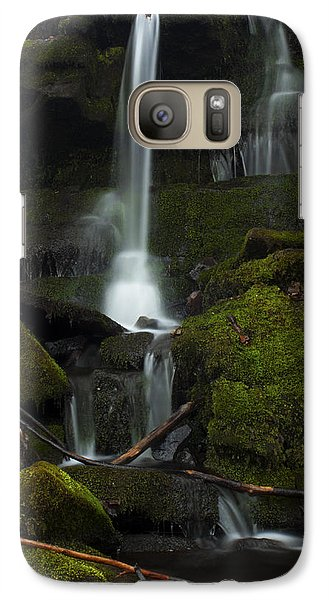 Galaxy Case featuring the photograph Mini Waterfall In The Forest by Jeff Severson