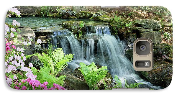Galaxy Case featuring the photograph Mini Waterfall by Sandy Keeton