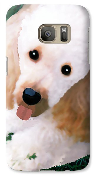 Galaxy Case featuring the photograph Miniature Poodle Albie by Marian Cates