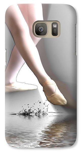 Galaxy Case featuring the digital art Minimalist Ballet by Angel Jesus De la Fuente