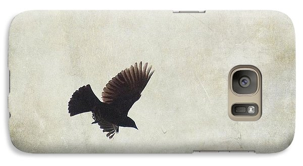 Galaxy Case featuring the photograph Minimalistic Bird In Flight  by Aimelle