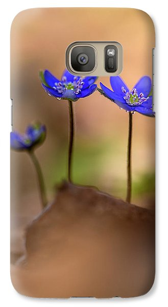 Galaxy Case featuring the photograph Minimalistic Impresion With Liverworts by Jaroslaw Blaminsky