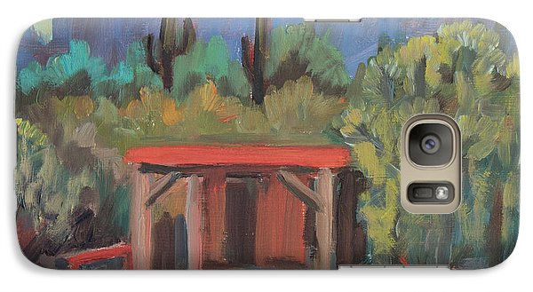 Galaxy Case featuring the painting Mining Camp At Superstition Mountain Museum by Diane McClary