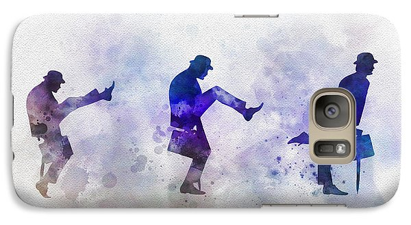 Ministry Of Silly Walks Galaxy Case by Rebecca Jenkins