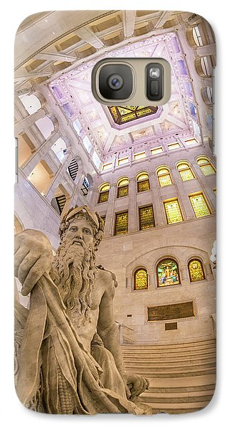 Galaxy Case featuring the photograph Minneapolis City Hall Rotunda, Father Of Waters by Jim Hughes