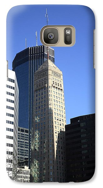 Galaxy Case featuring the photograph Minneapolis Skyscrapers 12 by Frank Romeo