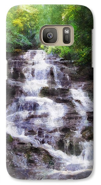 Galaxy Case featuring the digital art Minnehaha Falls Summer by Francesa Miller