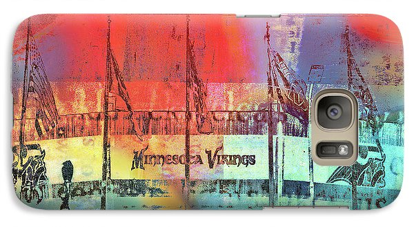 Galaxy Case featuring the photograph Minnesota Vikings Art by Susan Stone