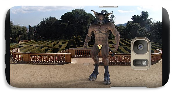 Minotaur In The Labyrinth Park Barcelona. Galaxy S7 Case