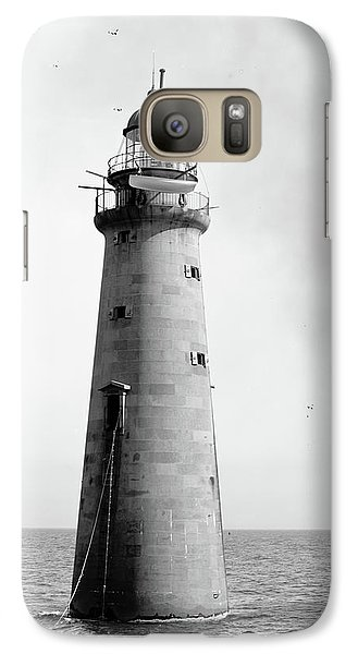 Galaxy Case featuring the photograph Minot's Ledge Lighthouse, Boston, Mass Vintage by Vintage