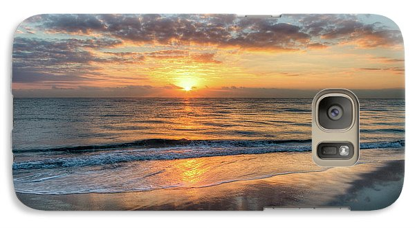Galaxy Case featuring the photograph Mirror At Sunrise by Debra and Dave Vanderlaan