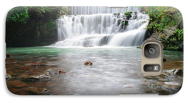 Galaxy Case featuring the photograph Mirror Lake Falls 2 by Renee Hardison