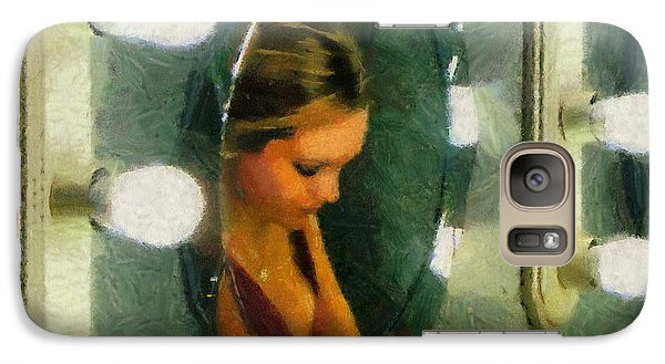 Galaxy Case featuring the painting Mirror Mirror On The Wall by Jeff Kolker