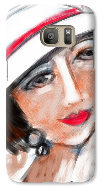 Galaxy Case featuring the digital art Miss Mary by Elaine Lanoue