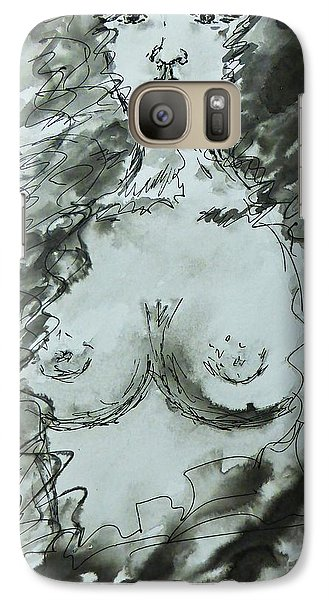 Galaxy Case featuring the painting Missing You by AmaS Art
