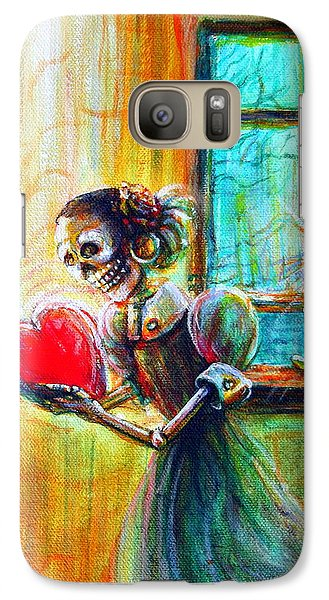 Galaxy Case featuring the painting Missing You by Heather Calderon