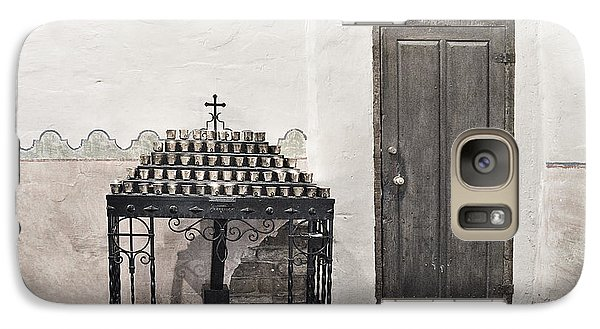Galaxy Case featuring the photograph Mission San Diego - Confessional Door by Christine Till