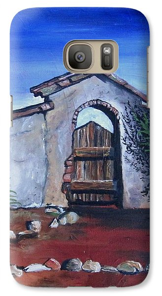 Galaxy Case featuring the painting Rustic Charm by Mary Ellen Frazee