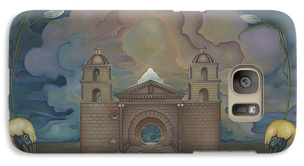 Galaxy Case featuring the painting Mission Santa Barbara by Andrew Batcheller