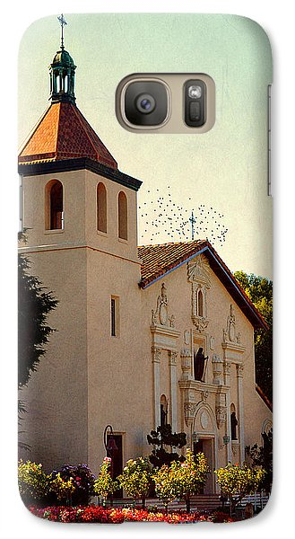 Galaxy Case featuring the photograph Mission Santa Clara - California by Glenn McCarthy Art and Photography