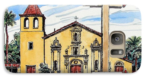 Galaxy Case featuring the painting Mission Santa Clara De Asis by Terry Banderas