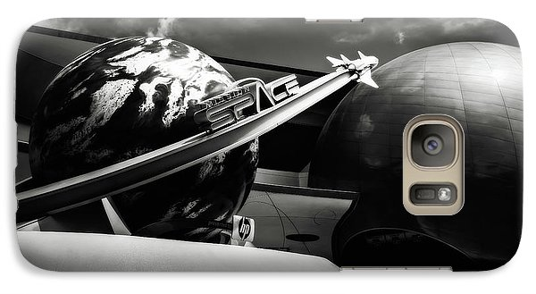Galaxy Case featuring the photograph Mission Space Black And White by Eduard Moldoveanu
