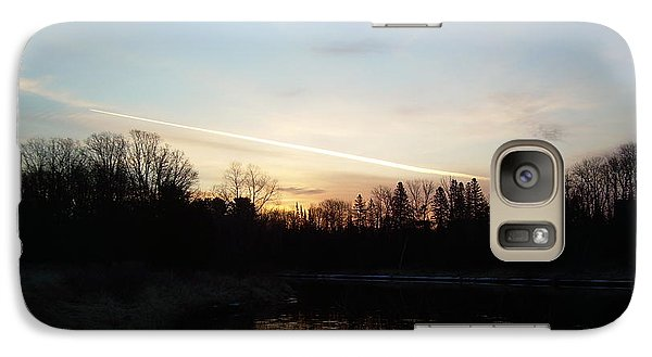 Galaxy Case featuring the photograph Mississippi River Colorful Dawn Clouds by Kent Lorentzen