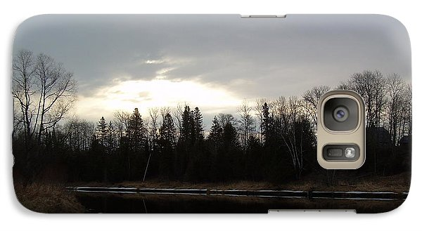 Galaxy Case featuring the photograph Mississippi River Dawn Clouds by Kent Lorentzen