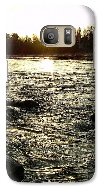 Galaxy Case featuring the photograph Mississippi River Dawn Reflection by Kent Lorentzen