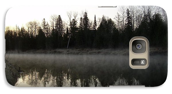 Galaxy Case featuring the photograph Mississippi River Fog Reflection by Kent Lorentzen