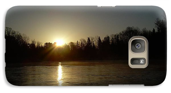 Galaxy Case featuring the photograph Mississippi River Golden Sunrise by Kent Lorentzen