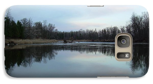 Galaxy Case featuring the photograph Mississippi River Morning Reflection by Kent Lorentzen